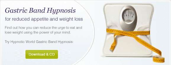 Gastric band hypnosis MP3 and CD for weight loss