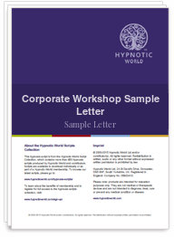 Corporate Workshop Sample Letter