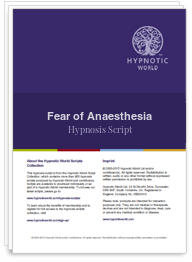 Fear of Anaesthesia